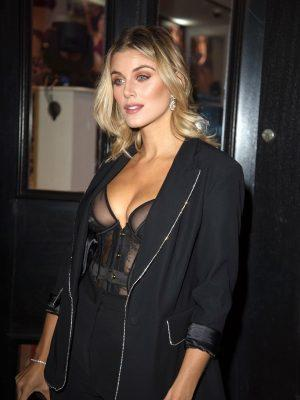 Ashley James in See-Through Top showing Nips