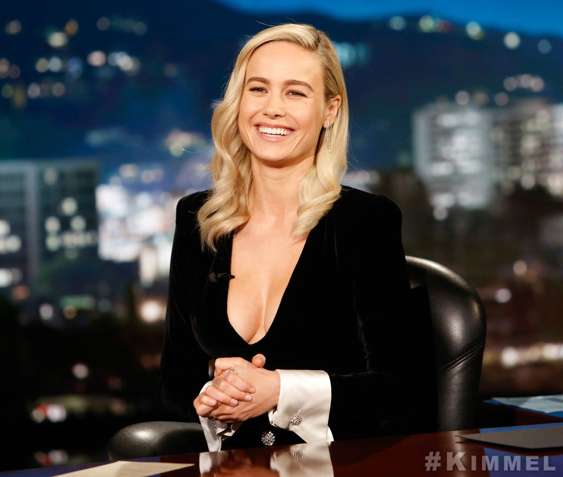 Brie Larson Hosts Jimmy Kimmel Live