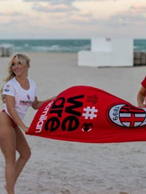 Claudia Romani and Jess Picado Booty for Photoshoot to Celebrate AC Milan in Miami