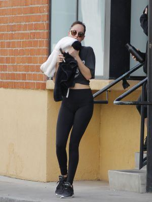 Dakota Johnson Booty in Tights, Outside a Gym in Los Angeles