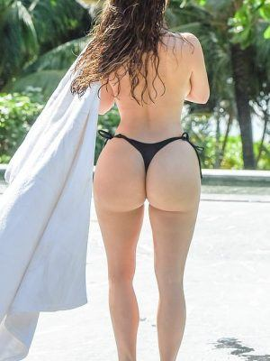 Demi Rose Mawby Ass at a Pool for Photoshoot in Phuket
