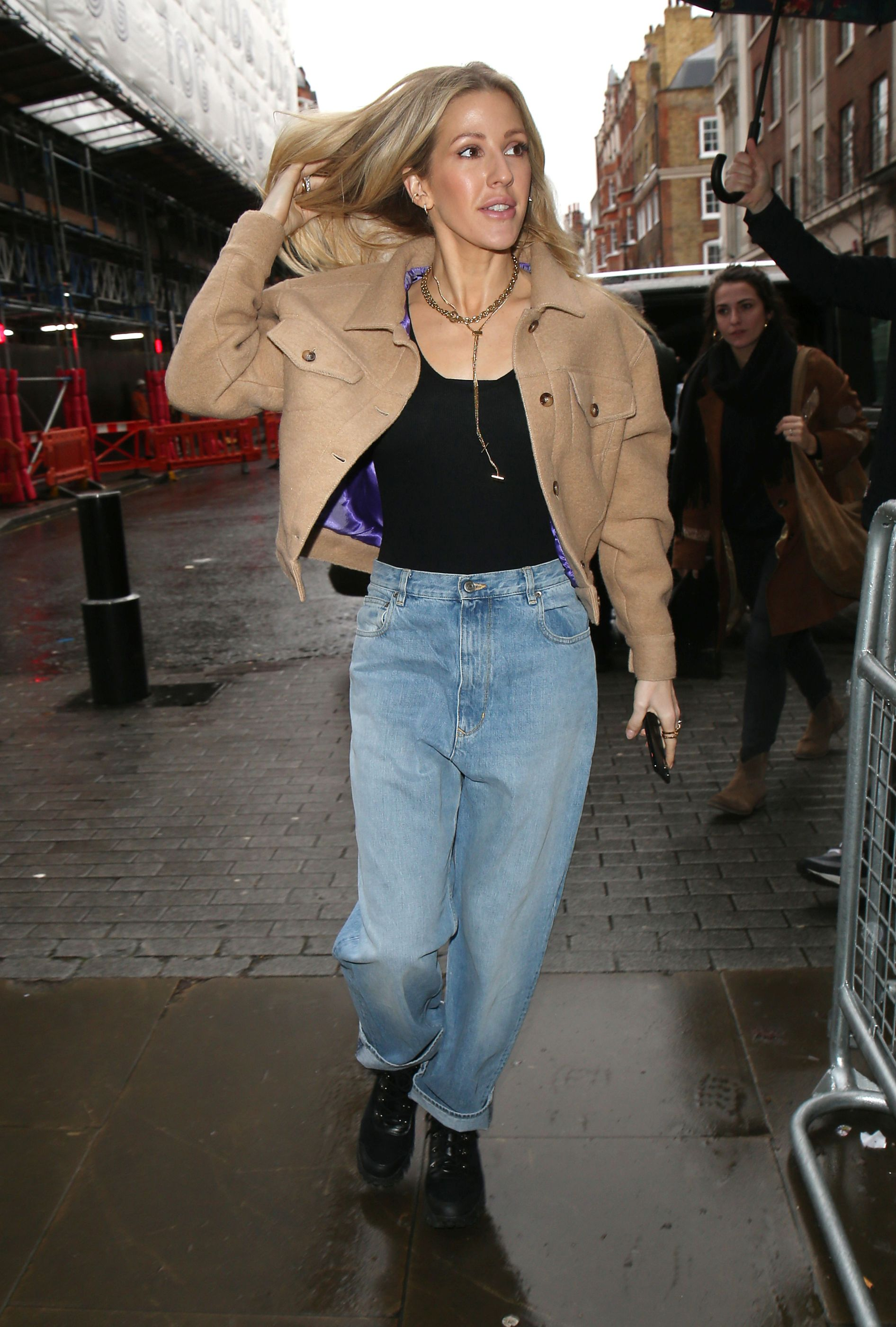 Ellie Goulding Arriving for a BBC 1 Live Lounge Performance in London