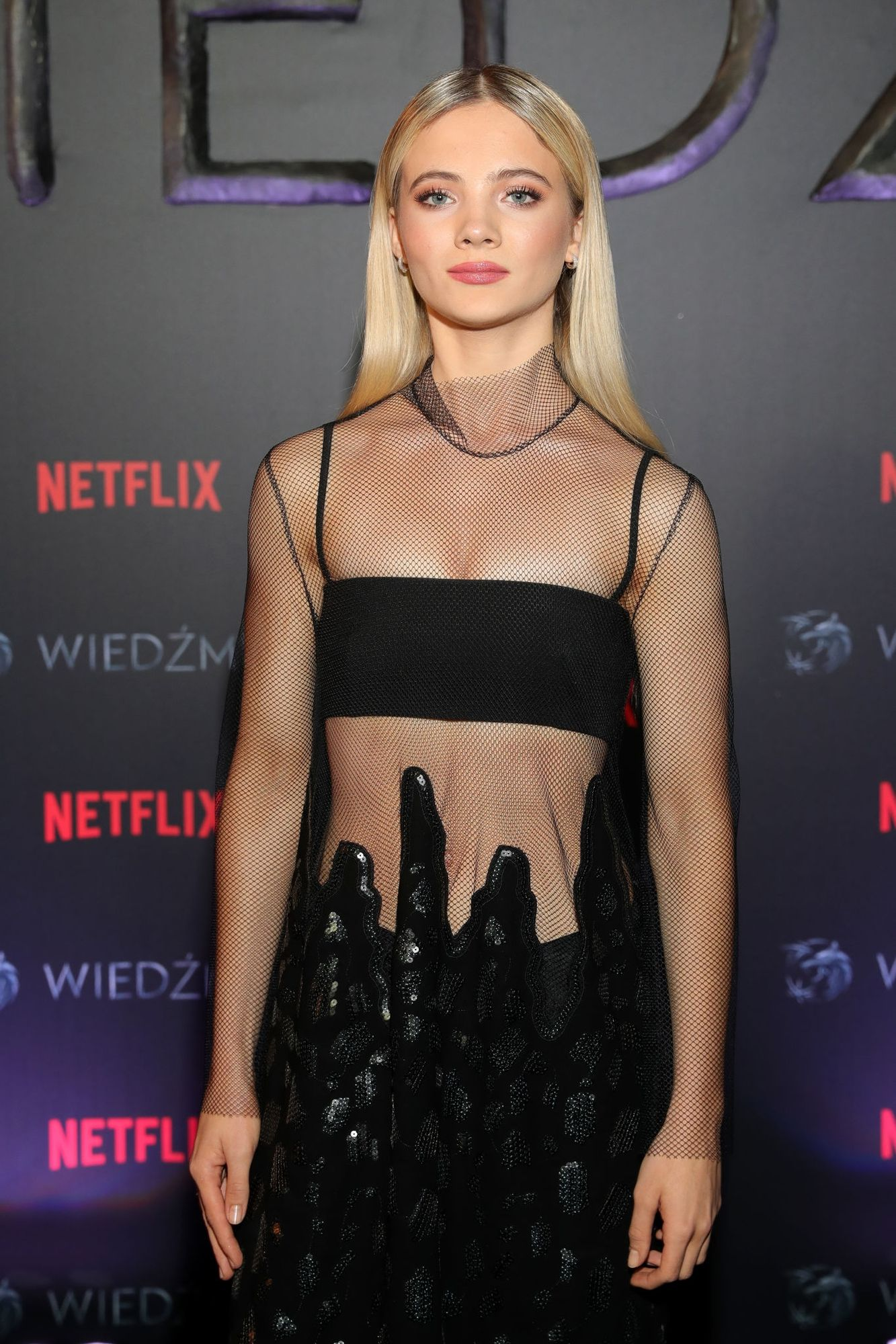 Freya Allan at The Witcher Premiere in Warsaw