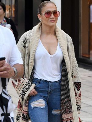Jennifer Lopez Last Minute Christmas Shopping in Miami