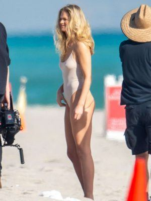 Jocelyn Chew and Erin Heatherton in Swimwear for Photoshoot in Miami