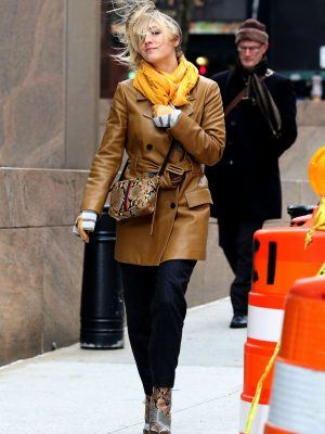 Kaley Cuoco on the Set of ''The Flight Attendant'' in NYC