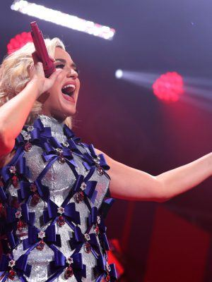 Katy Perry at 101.3 KDWB's Jingle Ball 2019 in St. Paul