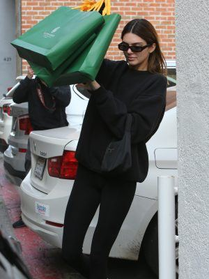 Kendall Jenner Ass in Tights, Shopping at Goyard in Beverly Hills