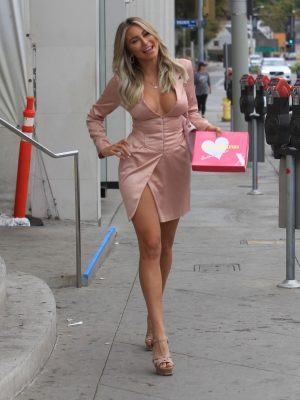 Khloe Terae Cleavage at Barbie Blank Launch Event in West Hollywood