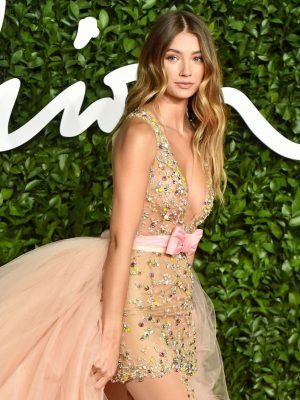 Lorena Rae in See-Through Dress at The Fashion Awards 2019 in London