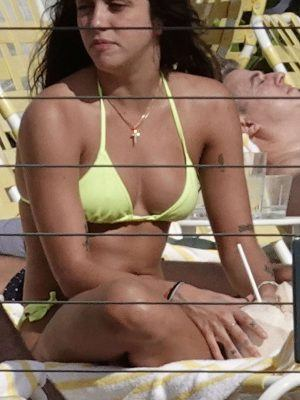 Lourdes Leon in Yellow Bikini in Miami