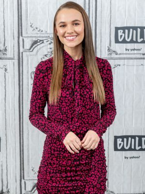 Madison Iseman Leggy on AOL Build in NYC