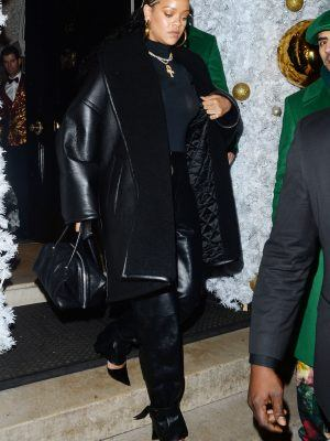 Rihanna Arriving at Annabels Private Members Club in London