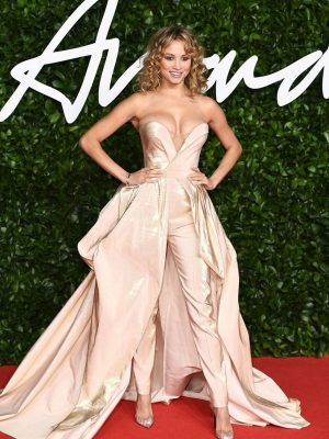Rose Bertram CLeavage at Fashion Awards 2019 in London