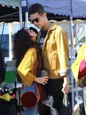 Sarah Hyland and Wells Adams at Farmers Market in Los Angeles