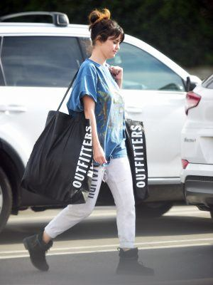 Selena Gomez Shopping at Urban Outfitters in LA