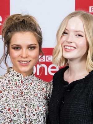 "Sophie Cookson and Ellie Bamber at the Premiere of ""The Trial Of Christine Keeler"" in London"