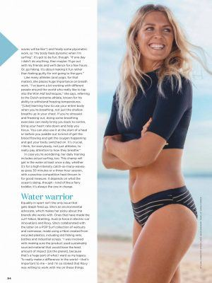 Stephanie Gilmore in Women's Health Australia - January 2020 Issue