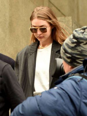 Gigi Hadid Walks Out of Manhattan Criminal Court in New York