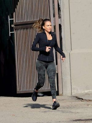 Jessica Alba On the Set of 'L.A's Finest' in Los Angeles