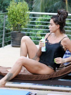 Katie Price at a Pool on Holiday in Thailand