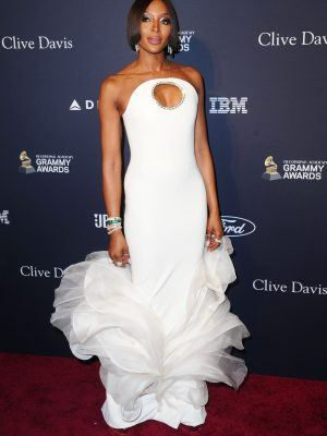 Naomi Campbell at Clive Davis' 2020 Pre-Grammy Gala, Arrivals In Los Angeles