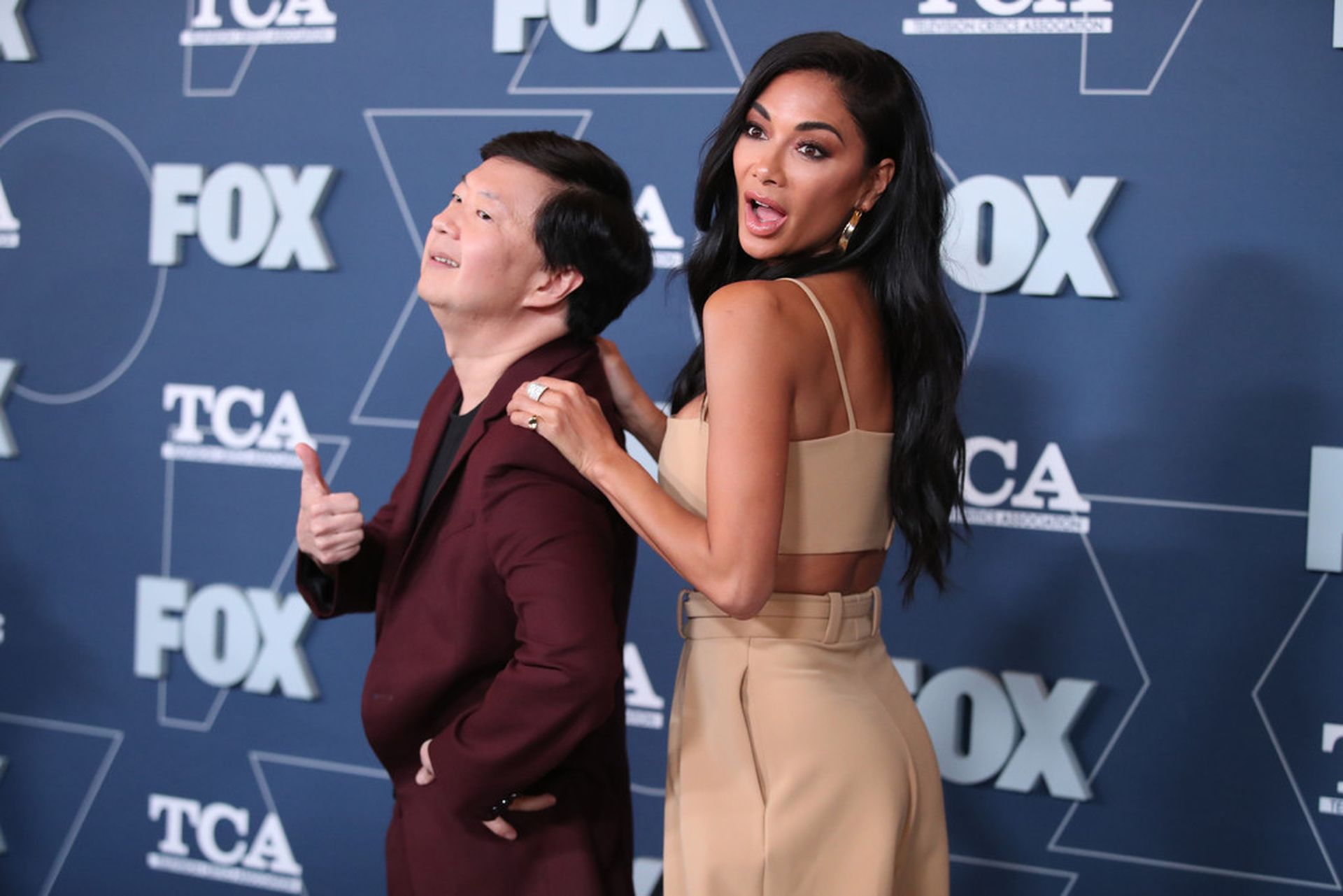 Nicole Scherzinger Arrive at the FOX Winter TCA 2020 All-Star Party