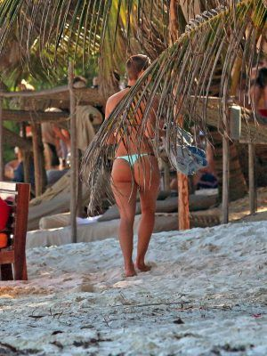 Rachel Cook is seen while on Vacation in Tulum, Mexico