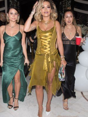 Rita Ora Leggy, Arrive at New Year's Party in Beverly Hills