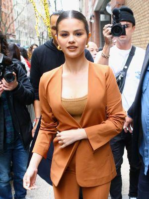 Selena Gomez Outside Live With Kelly and Ryan in NYC