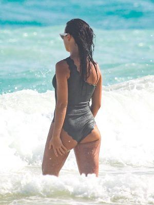 Sofia Nikitchuk in Swimsuit at Beach in Tulum