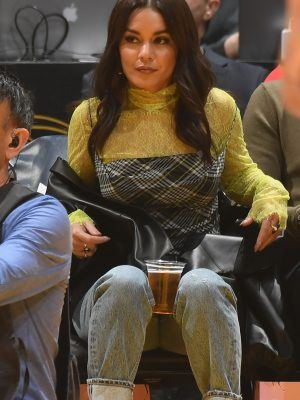Vanessa Hudgens at the Lakers/Cavs Game in Los Angeles