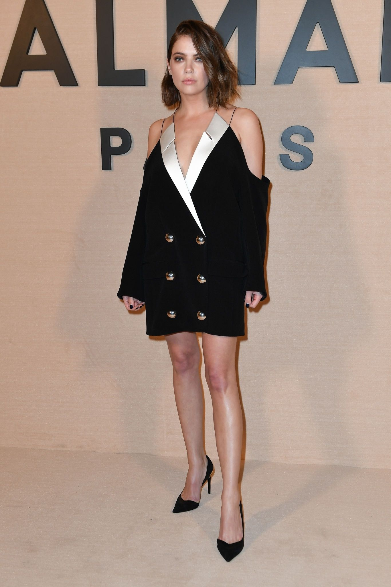 Ashley Benson at Balmain Show at Paris Fashion Week Womenswear Fall/Winter 2020/21