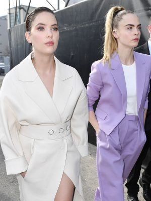 Ashley Benson and Cara Delevingne, Arriving at the Boss Fashion Show in Milan