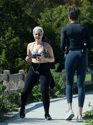 Bebe Rexha Working Out in Los Angeles