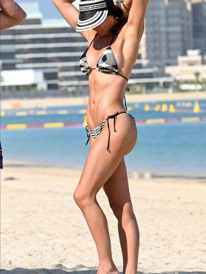 Danielle Lloyd in Bikini at a Beach in Dubai