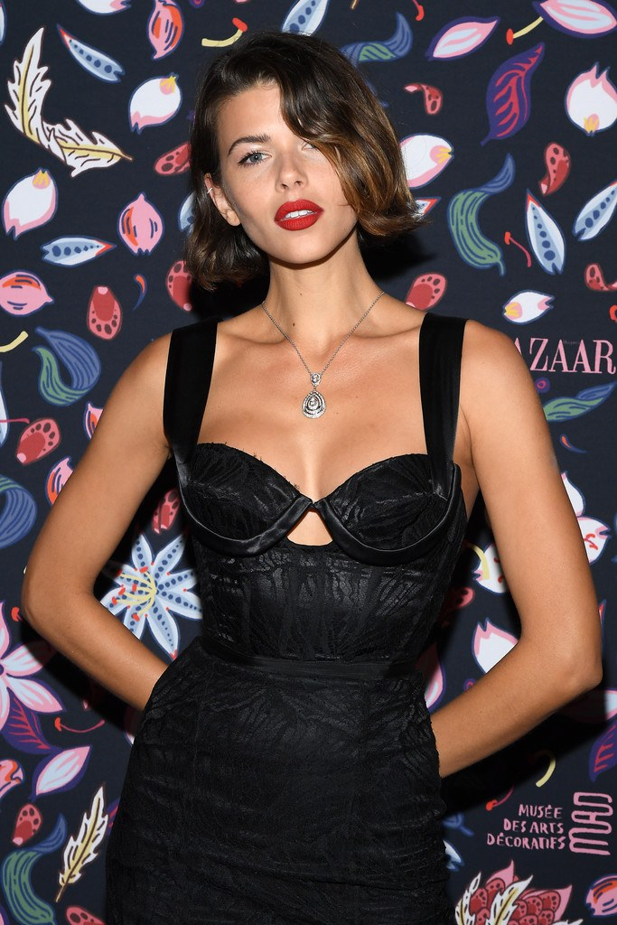 Georgia Fowler at Harper's Bazaar Exhibition at Paris Fashion Week