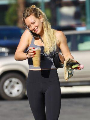 Hilary Duff Leaving a Pilates Workout in Sherman Oaks