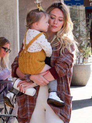 Hilary Duff and her Cute Valentine's Date Banks Run Errands Together in Studio City