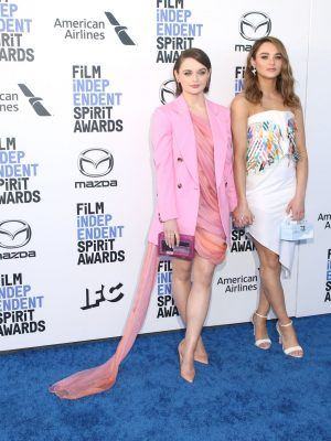 Hunter King and Joey King at 2020 Film Independent Spirit Awards in Santa Monica