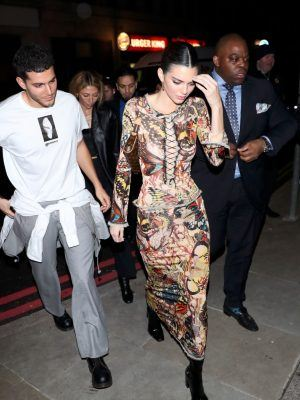 Kendall Jenner Boobs in Tight Dress at Love Magazine Party in London