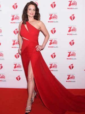Kimberly Williams-Paisley at Go Red For Women Red Dress Collection 2020 in NYC