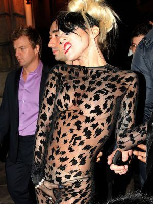 Lady Gaga Pokies in a See Through Outfit
