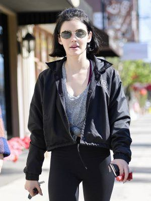 Lucy Hale goes shopping with friends in Studio City