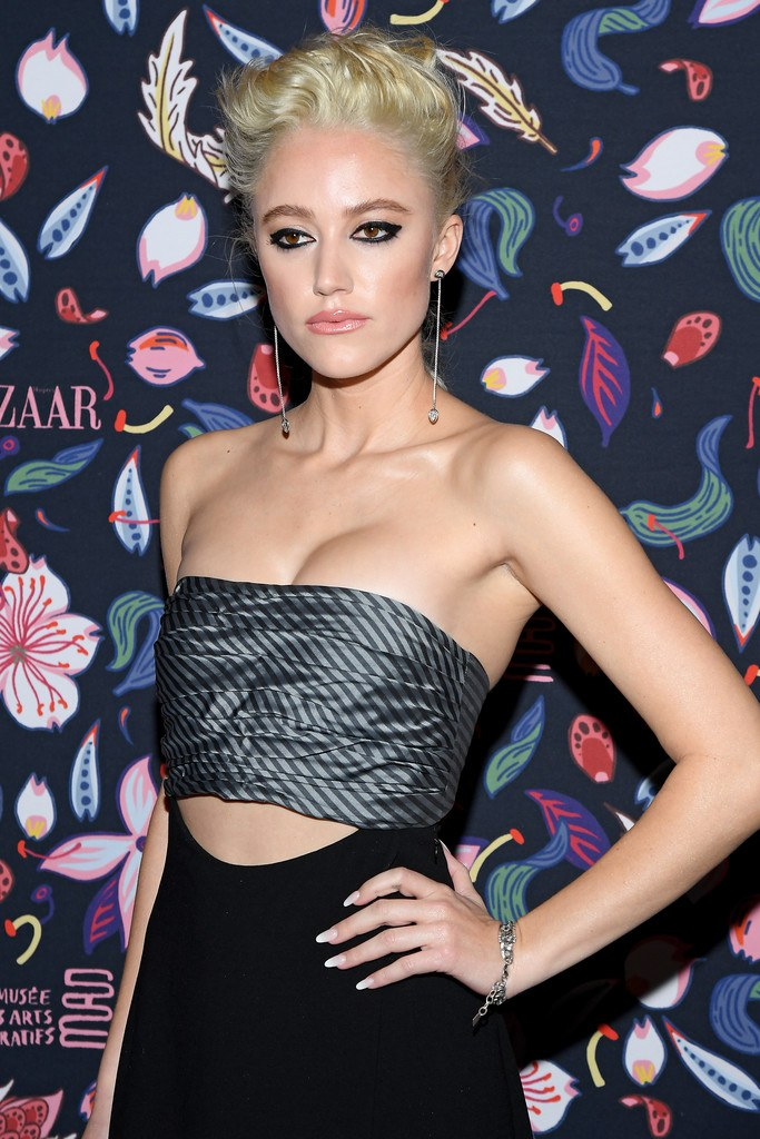 Maika Monroe at Harper's Bazaar Exhibition at Paris Fashion Week