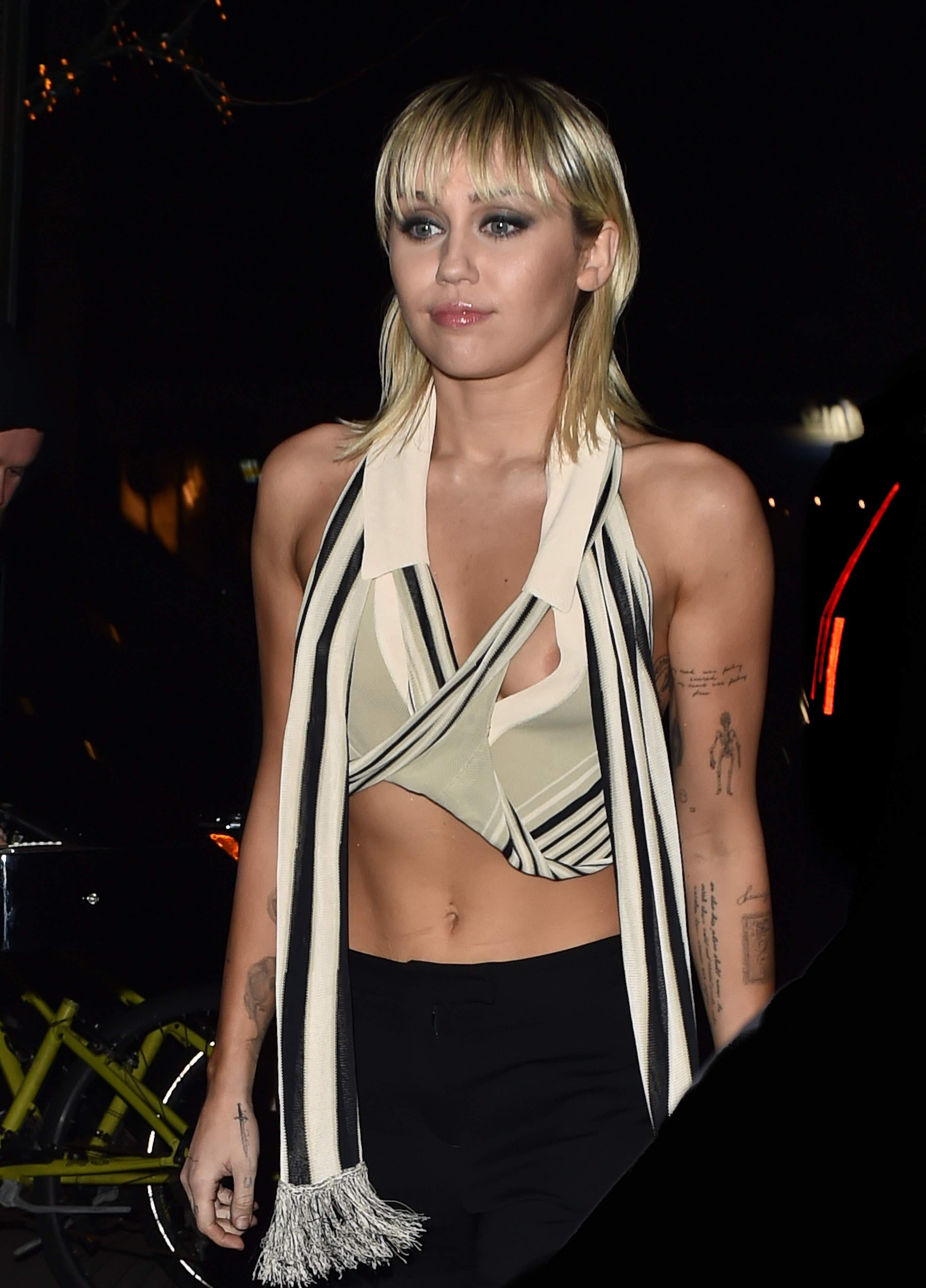 Miley Cyrus Nipples Outside the Bowery Hotel in NYC