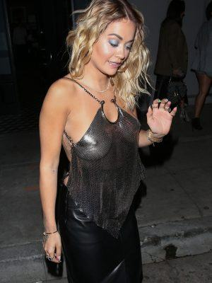 Rita Ora Pokies, Outside Craig's in West Hollywood