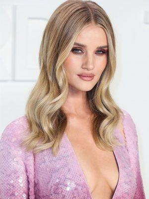 Rosie Huntington-Whiteley Cleavage at the Tom Ford Fashion Show 2020