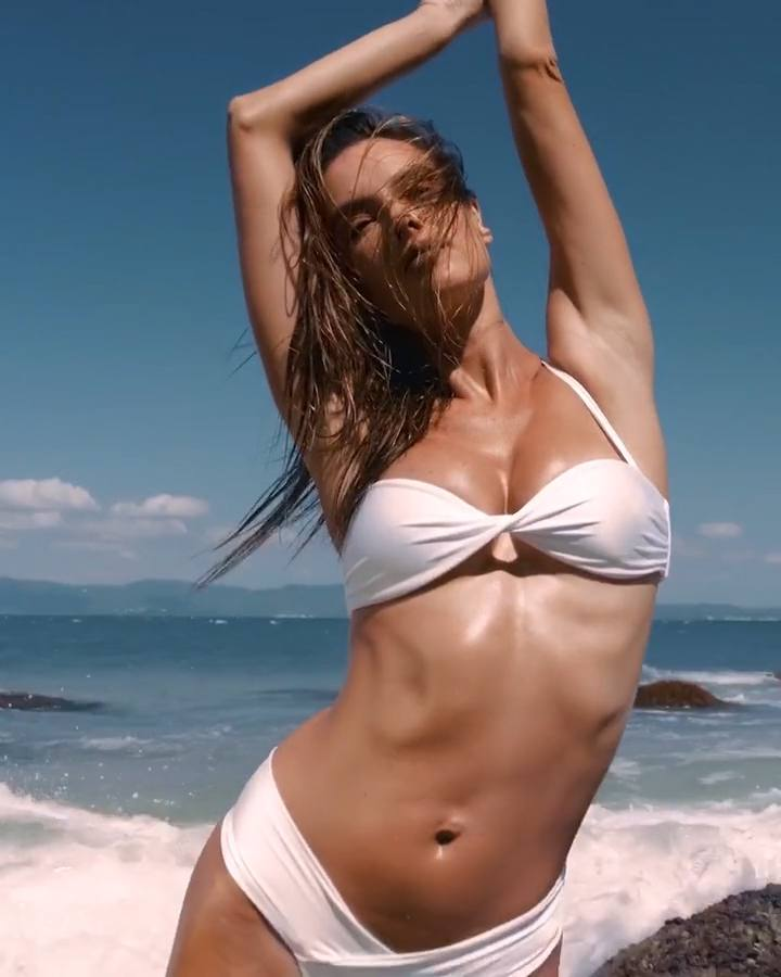 "Alessandra Ambrosio in ""Wave & Flow"" Bikini - March 2020"