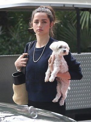 Ana De Armas with Dog, Out and About in Los Angeles
